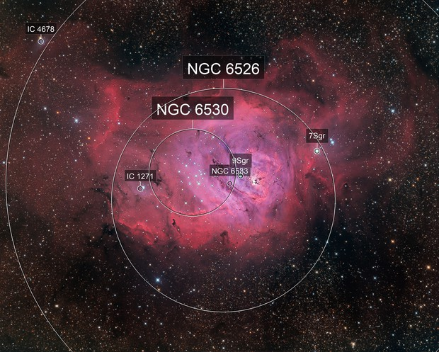 M8, Lagoon Nebula in Sagittarius
