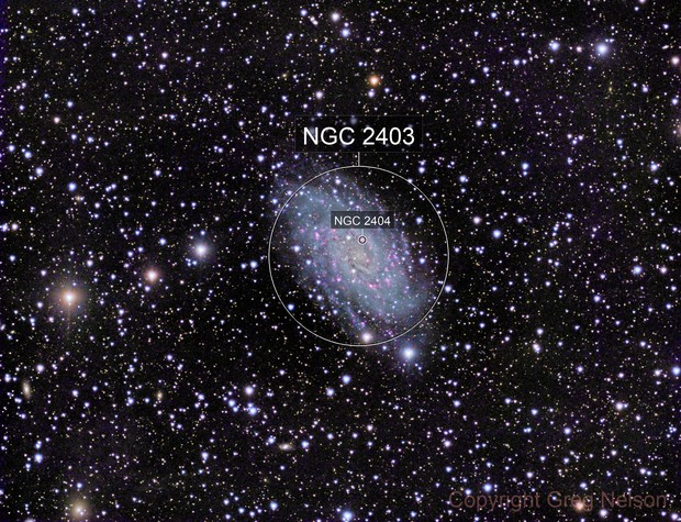 NGC 2403 LRGB with Ha and OIII