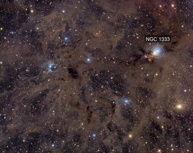 NGC 1333 Widefield - Deep Sky West Remote Observatory