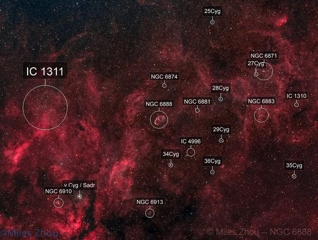 Crescent Nebula (NGC-6888) Wide @ DSW