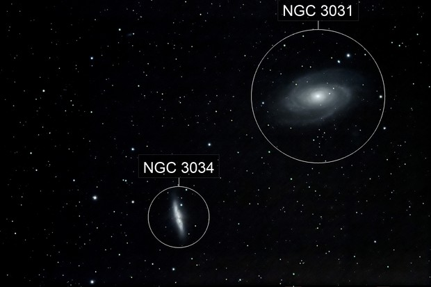 M81+M82 v2 (Galaxies du cigare + Bode) Grande Ourse