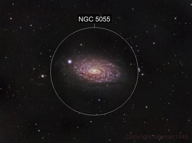 M63 Spiral Galaxy in Gold