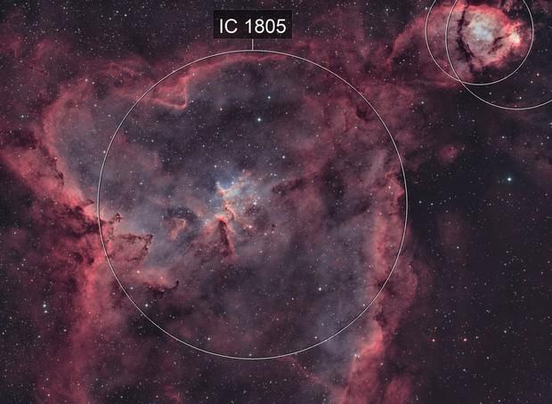Ic1805-nébuleuse du coeur HOO