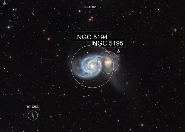 M51 with RGB only