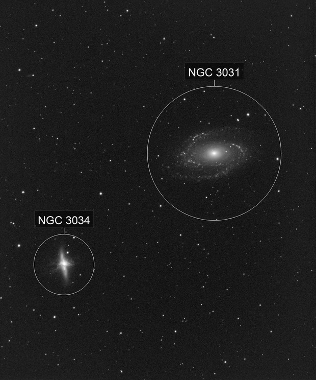 M 81 and M 82 H-alpha only
