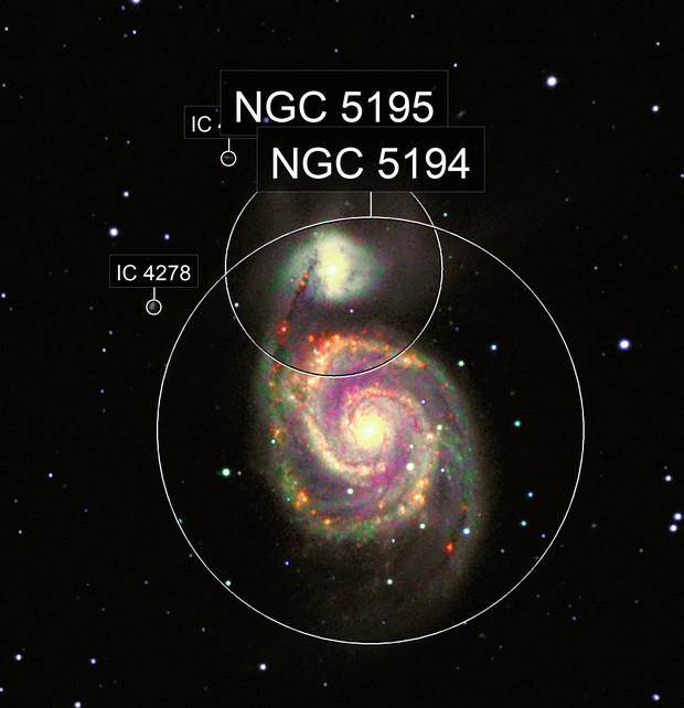 M51 in L-H-S-NIR