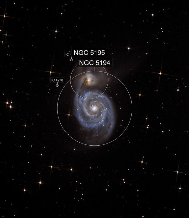 M51 Ausschnitt