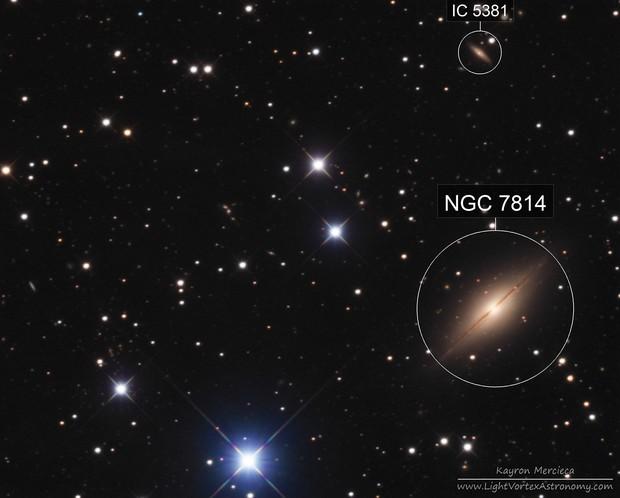 NGC7814 Little Sombrero Galaxy in LRGB