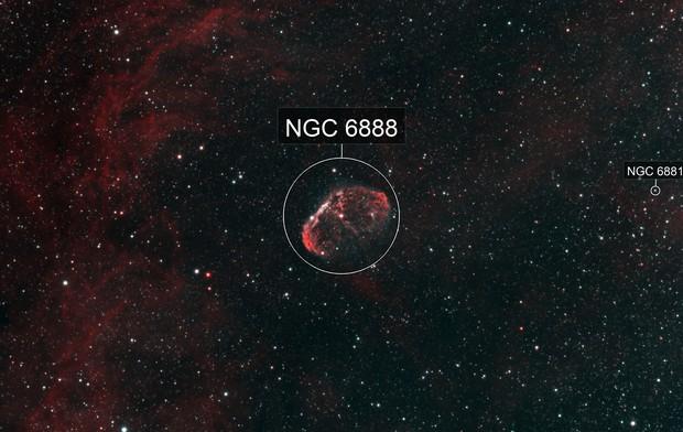 Crescent Nebula HOO
