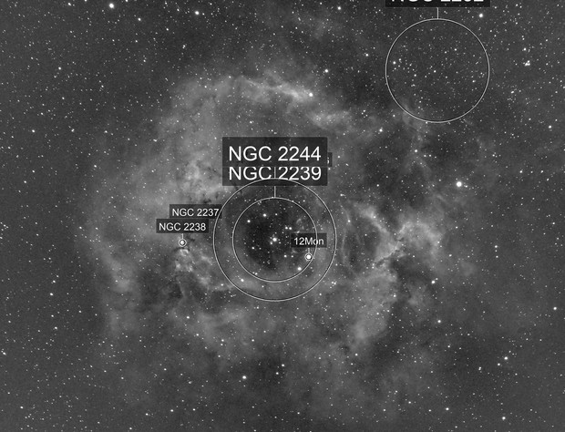 C49 Rosette Nebula-NGC 2237-Ha-Meade 80 ED triplet-ASI 1600 MM-Pro