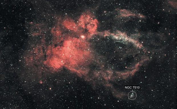 The Lobster Claw Nebula, SH2-157