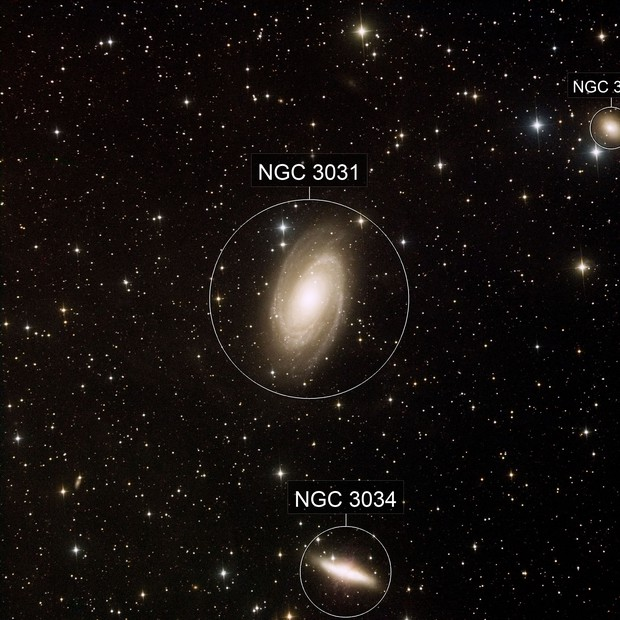 M81 and M82 - Bodes and Cigar Galaxies