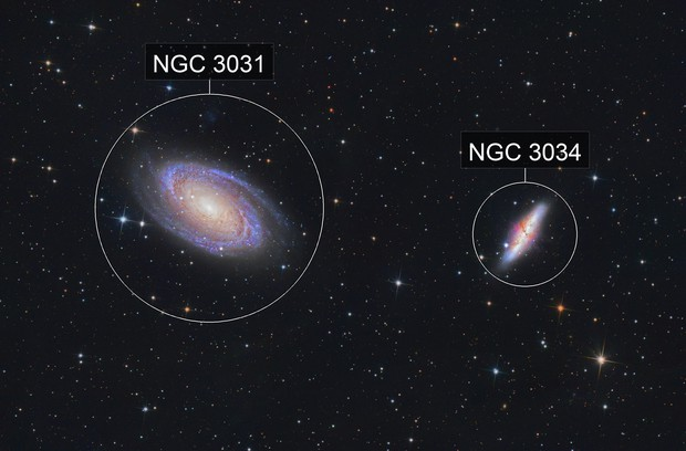 M81 and M82 - Boad's Nebula