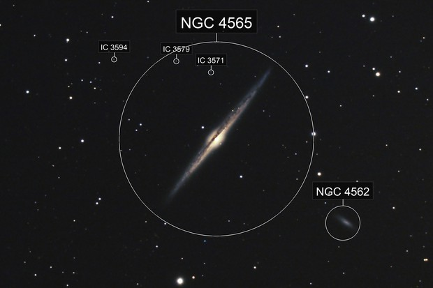 The Needle Galaxy, NGC 4565, Caldwell 38