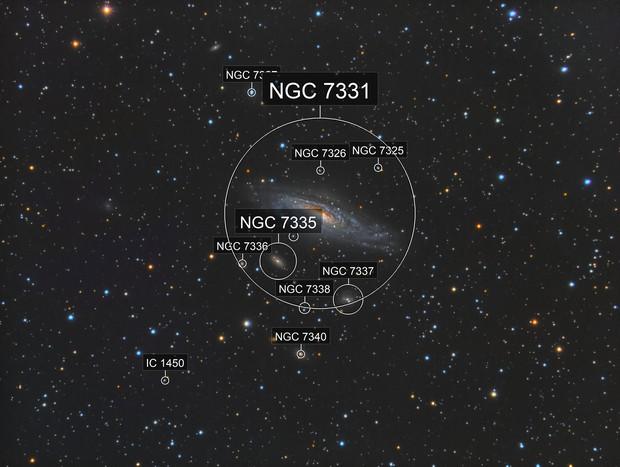 NGC7331 and companions