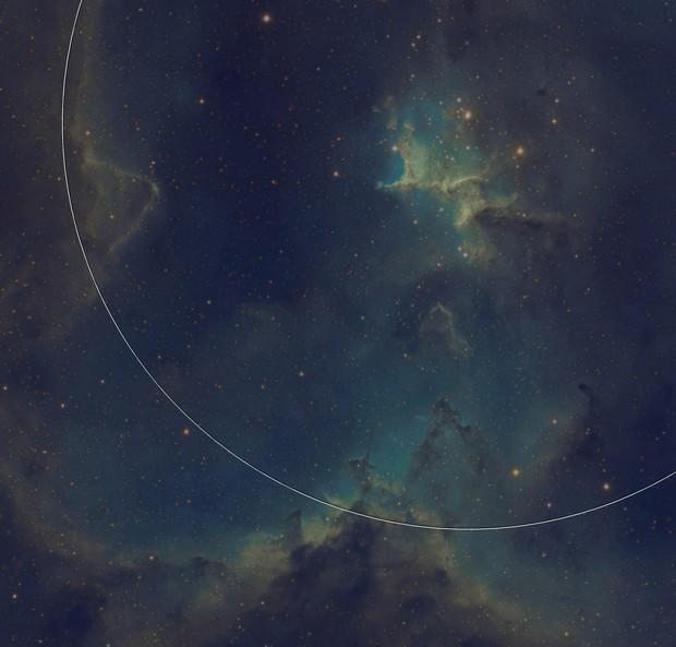 heart nebula ic1805 Hubble palette