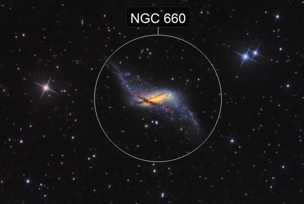 NGC 660 - The Polar Ring Galaxy (HaLRGB)