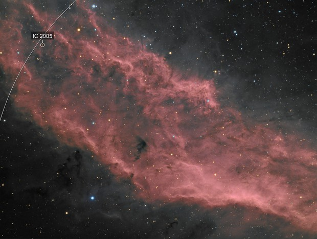Red zone inside ngc 1499