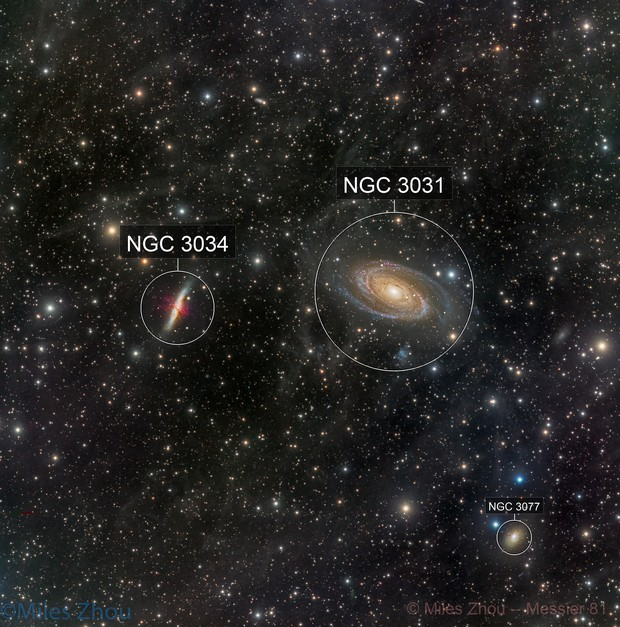 Bode's Nebulae (Messier 81 & 82) with IFN