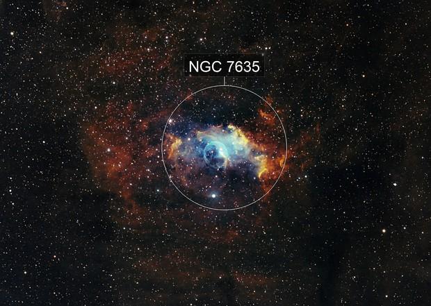 Bubble Nebula in Hubble Palette (NGC7635)