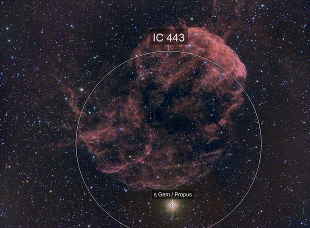 IC443 - Jellyfish Nebula (HaRBG)