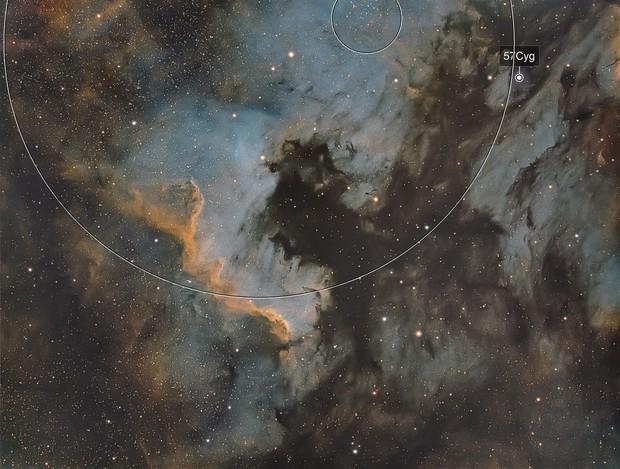 NGC7000 first narrowband - Esprit 80
