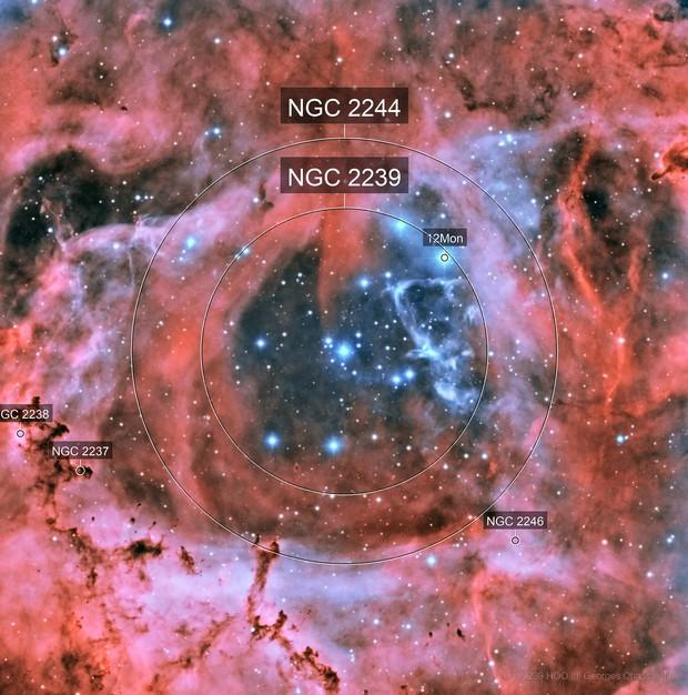 ngc 2239 HOO Rosetta nebula