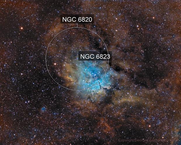 NGC6823 & NGC6820 en SHO