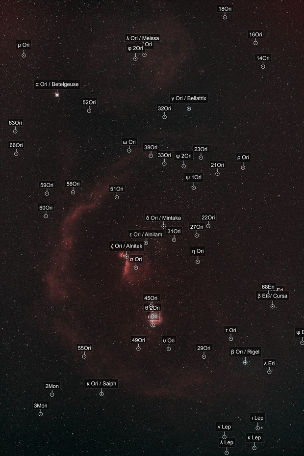 Orion Constellation in HOO