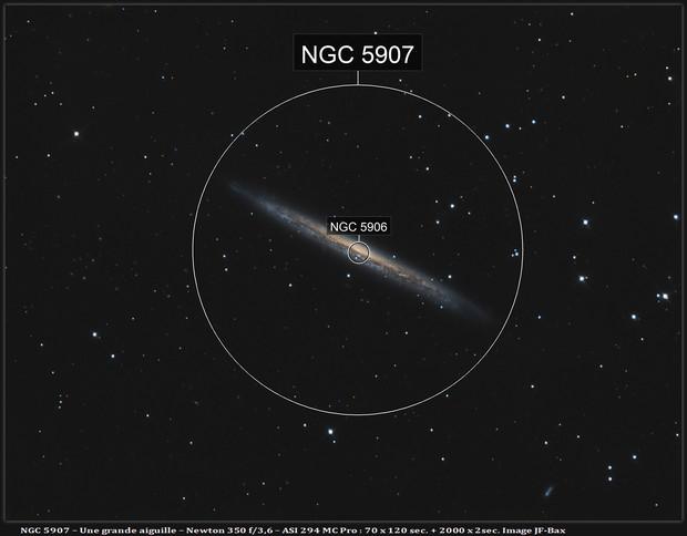 NGC 5907 - Une jolie aiguille.