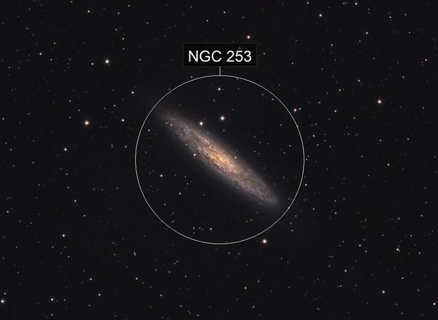 NGC 253 Sculptor (Silver Dollar) Galaxy