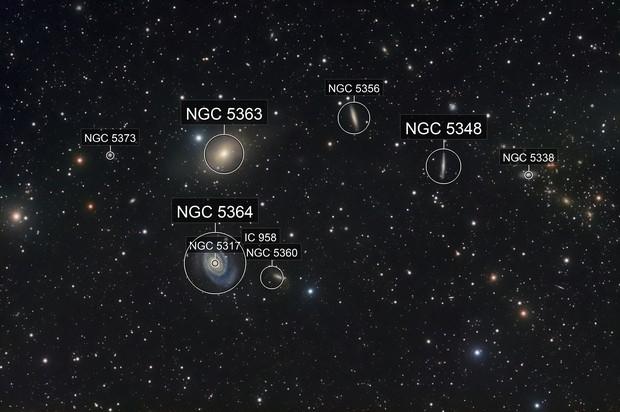 NGC 5364 and neighbors