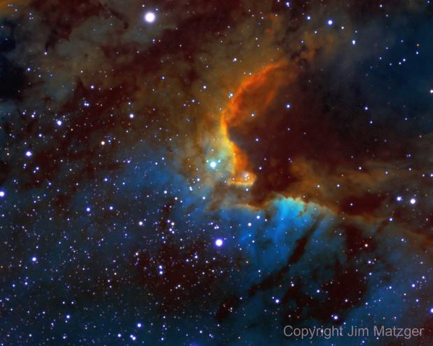 Cave Nebula HA + NII + OIII + SII