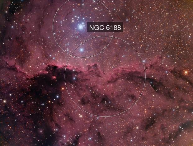 NGC 6188 in HaRGB
