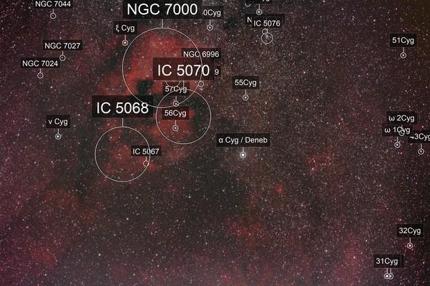 Umgebung von Deneb (Cygnus) - Testaufnahme