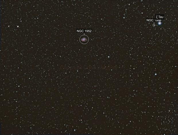 M1 - Crab Nebula - Widefield
