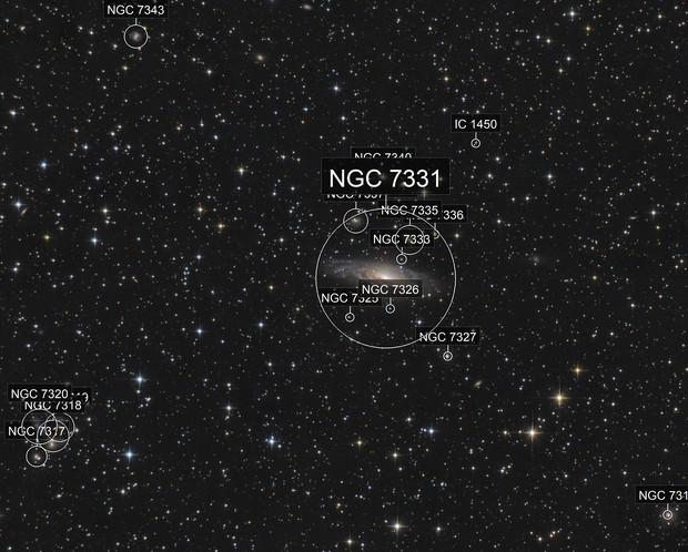 NGC 7331 & stephan quintet