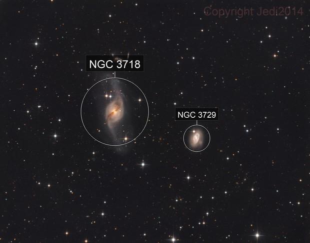 NGC 3718 the warped spiral galaxy
