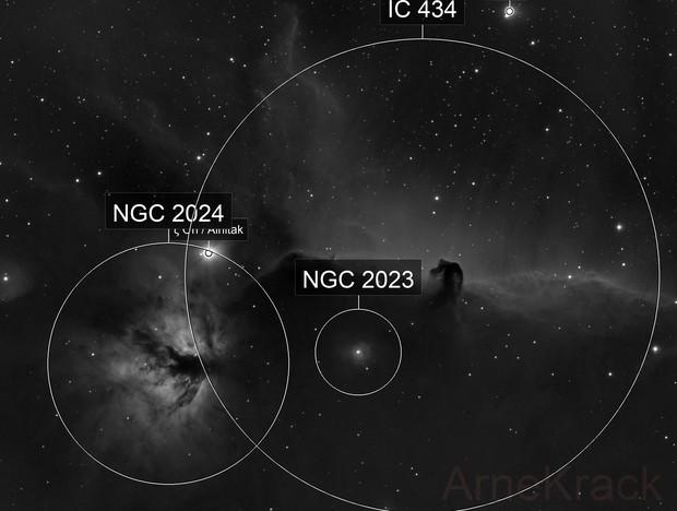 B33 / Pferdekopfnebel und NGC 2024 / Flammennebel in H alpha