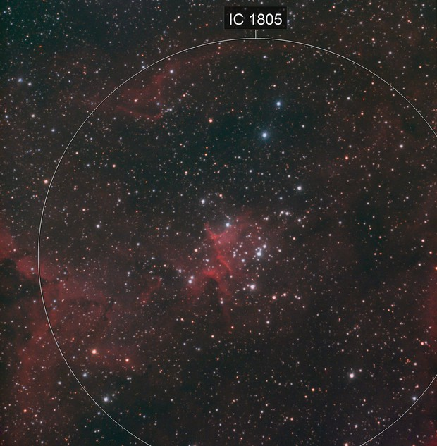 "IC 1805 ""Heart of the heart nebula"""