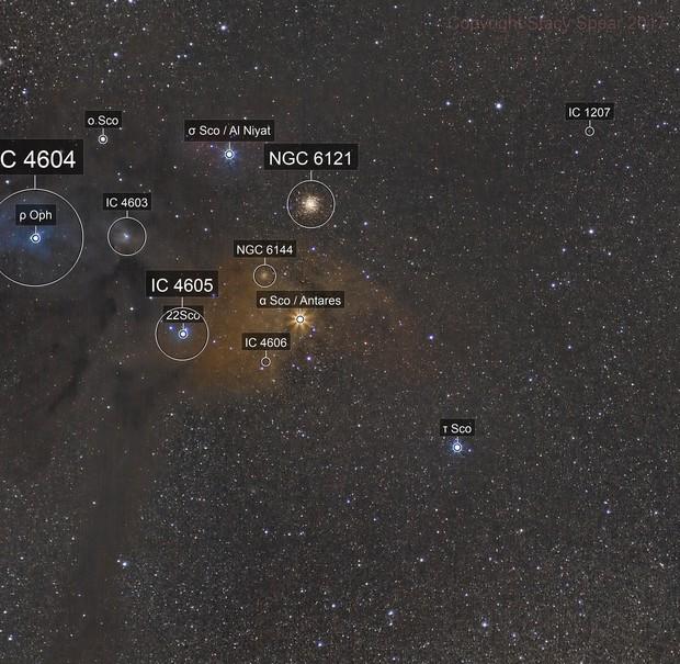 Rho Ophiuchi Area