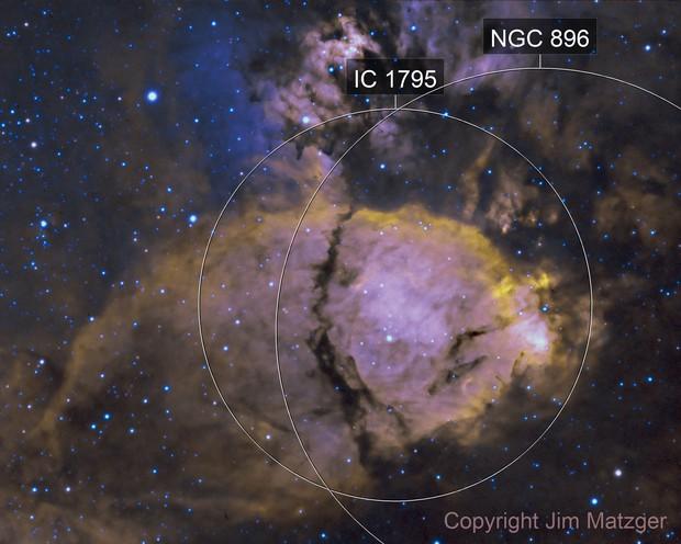 NGC 896 - HA + OIII