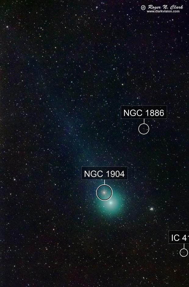Comet Lovejoy C2014 Q2 Passes Star Cluster M79