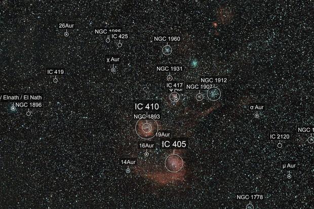 Iwamoto meets Flaming Star neb. and M36 / 38