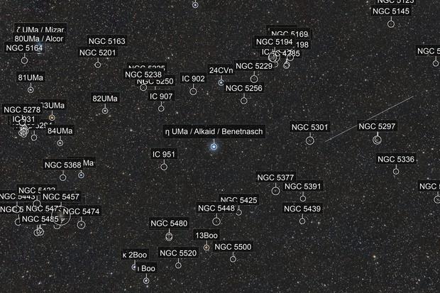 Near-Earth asteroid 2014 JO25, the Whirlpool and the Pinwheel galaxy