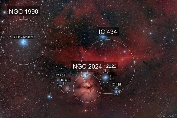 Horsehead & Flame nebula/Region
