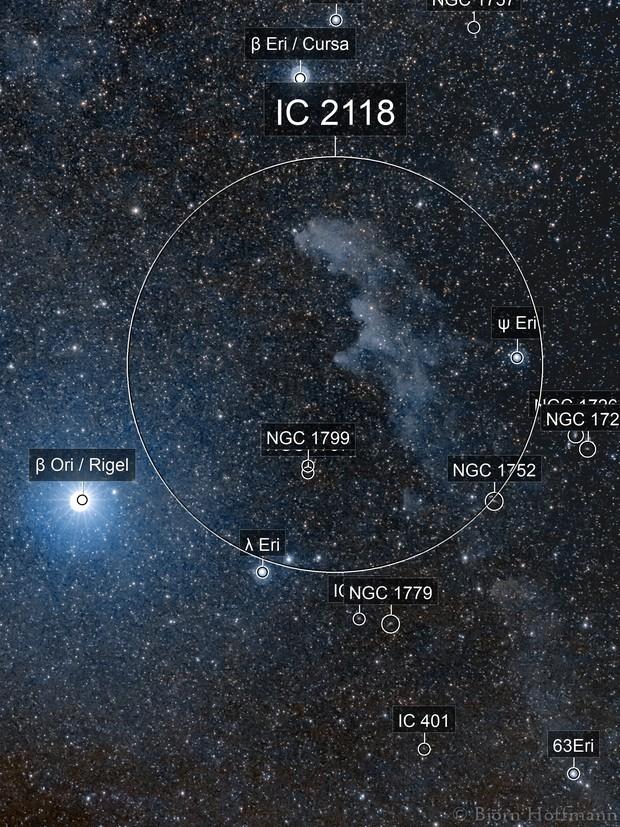 IC 2118, Witch Head Nebula