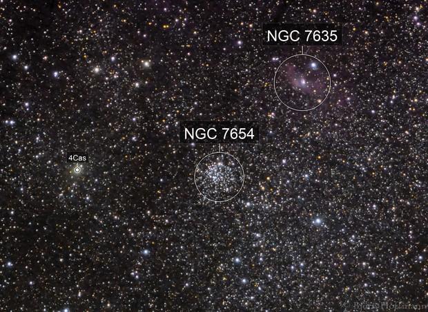 M52 and NGC7635, shot with Samyang 135mm