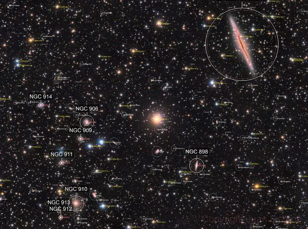 NGC 891 vs Abell 347