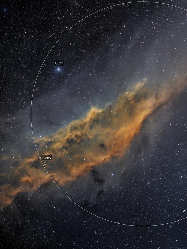 NGC 1499 Narrowband